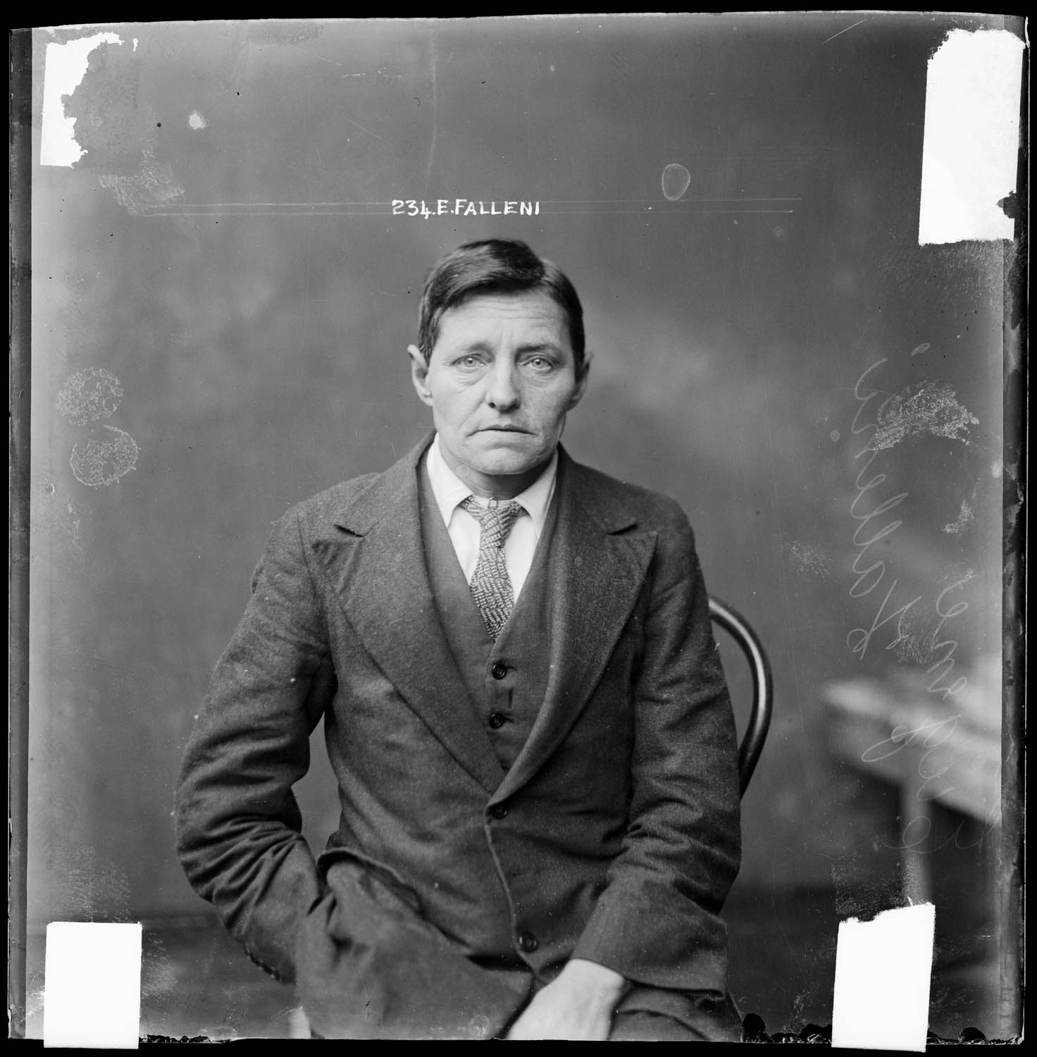 Eugenia Falleni, alias Harry Crawford, special photograph number 234, Central Police Station Sydney, 1920.