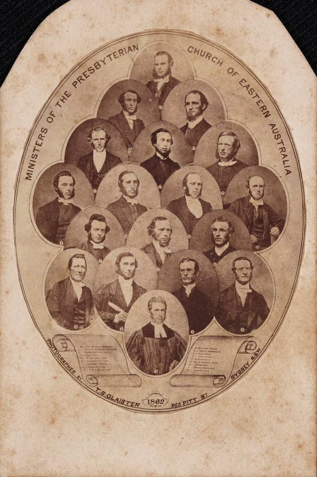 Ministers of the Presbyterian Church of Eastern Australia, 1862 / photographed by T S Glaister