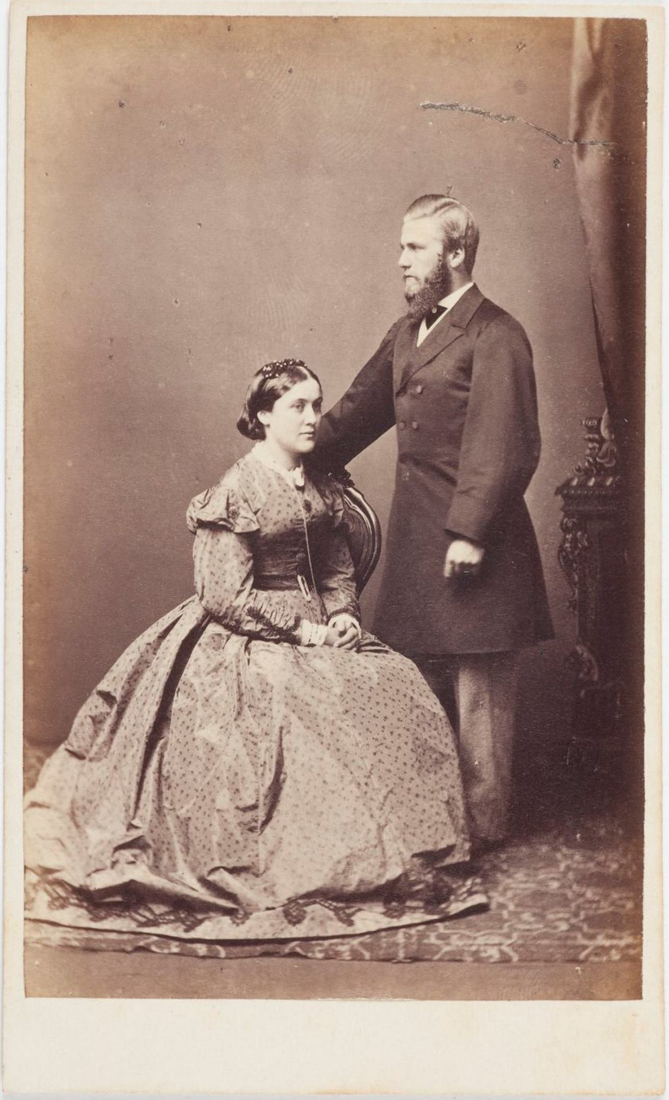 IsabelTerry, nee Benson (1845-1918), and her husband Edward Terry (1840-1907), 1866 / Dalton's Royal Photographic Gallery, Sydney