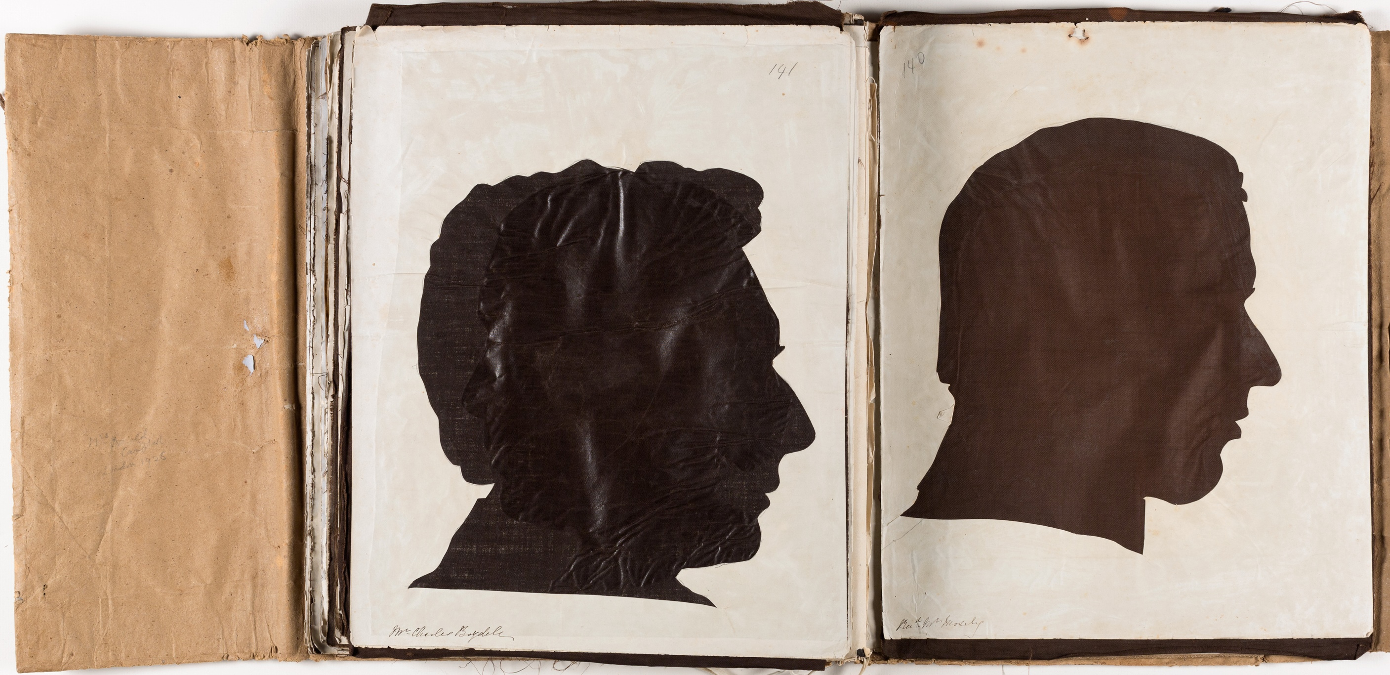 Silhouette likenesses of (left) Charles Boydell (1808-1869) and (right) Rev John Mosely (1829-1879) / by Marianne Collinson Close