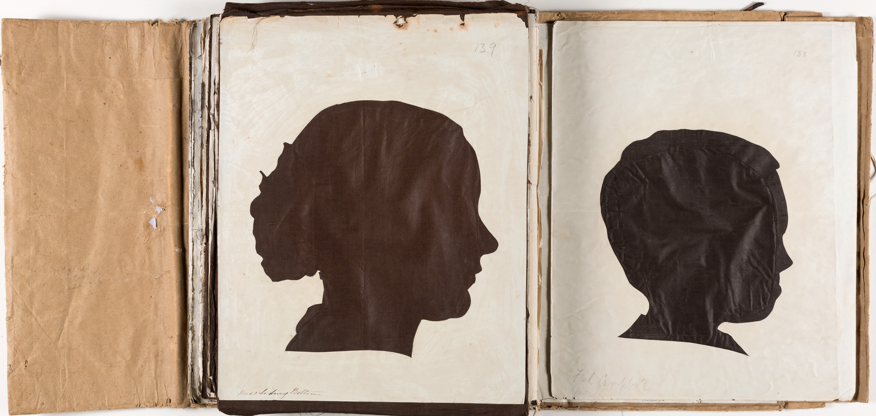 Silhouette likenesses of (left) Miss Sidney Bolton (1834-1924) and (right) Fred Campbell (1846-1928) / by Marianne Collinson Close